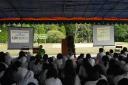 Mendengarkan ceramah dari Kostrad TNI