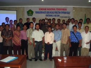 Peserta cowok seminar Nasional PTK di MGMP Pontianak