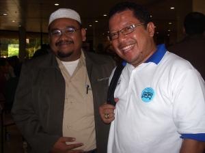 Wijaya dan Onno di Puspiptek Serpong