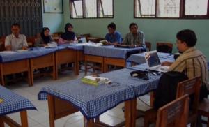 Belajar PTK di SMPN 1 Anyar, Serang Banten