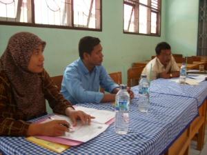 Tim dari sultan Training juga turut mendengarkan materi PTK