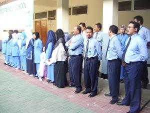 Guru-guru di SMP Labschool Jakarta