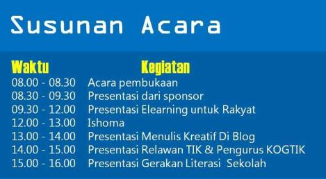 susunan acara workshop elearning